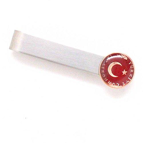 Türkei Münze Krawatte Bar Clip Tiebar Krawattenklammer türkischen osmanischen Sultan Europa Ostasien