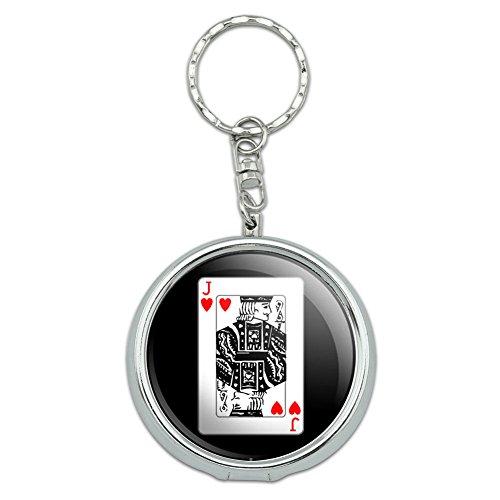 Pot Jack (Portable Travel Größe Pocket Geldbörse Aschenbecher Schlüsselanhänger Glücksspiel Track Karten Poker Playing Cards Jack of Hearts)