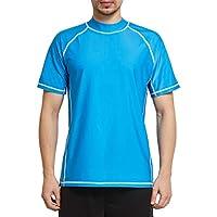 Ogeenier Rash Guard Hombre Camiseta de Manga Corta con Protección Solar UV UPF 50+ Secado Rapido