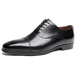 Desai Zapatos de Cordones Oxford para Hombre, Negro, 41.5 EU / 41 CN