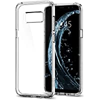 Coque Galaxy S8, Spigen® [Ultra Hybrid] Technologie Coussin d'Air [Crystal Clear] La face arriere Claire + Bumper en TPU pour Samsung Galaxy S8 (2017) - (565CS21631)