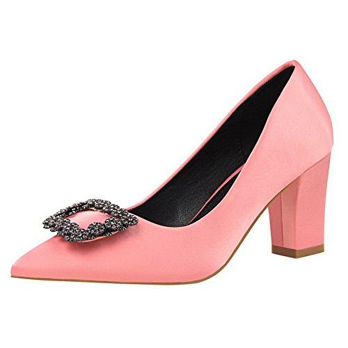 Weiches Pink Zehe Schuhe Rein Spitz Ziehen Pumps Auf Material Damen Aalardom Schließen gxE6wqg7