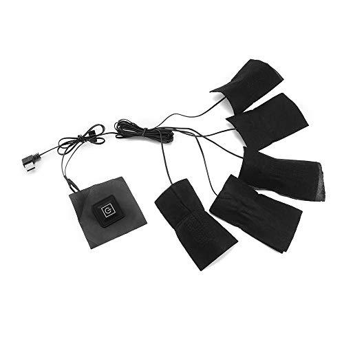 ShangSky Heatingpad Wärmetherapie,Heizung Gürtel,5-in-1-USB-Aufladung,3 einstellbare Temperaturstufen,Wasserdichte Elektrische Heizkissen Wärmer für Weste Jacke Tuch