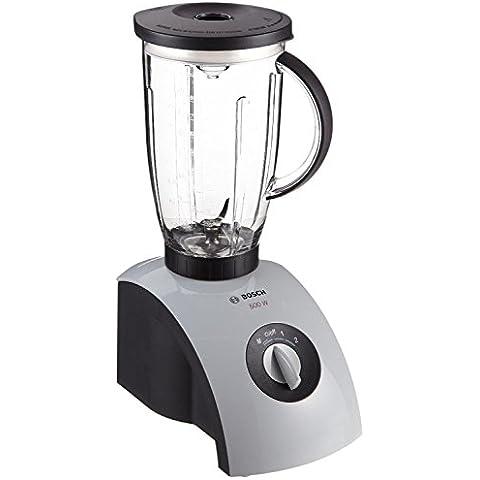 Bosch MMB1001 - Batidora de vaso, jarra de plástico, 2 litros, 2 niveles de velocidad, función pulse, 500 W, color gris y negro