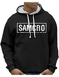 Sons of Anarchy Redwood SAMCRO Sweatshirt mit Kapuze - div. Farben Gr.S M L XL