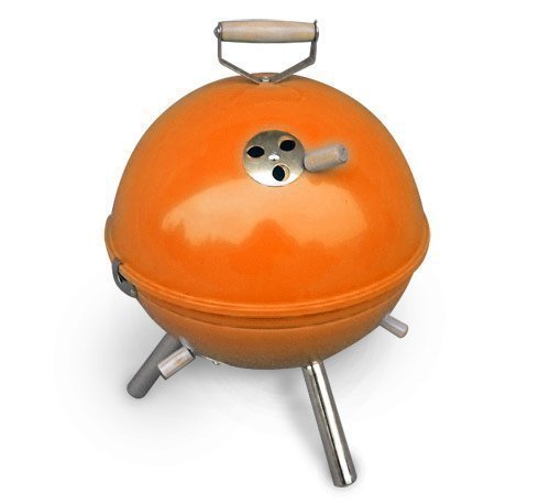 Jet-Line Mini Kugelgrill BBQ Grill orange Holzkohlegrill Kohle Camping Garten - Holzkohle-grill-event