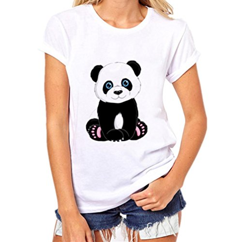 251661ecd167b Rawdah Impression Panda T-Shirts Femmes Filles Plus La Taille Panda  Imprimer T-Shirts