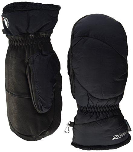 Ziener Damen KALI AS MITTEN Ski-Handschuhe / Wintersport | wasserdicht, Daune, sehr warm, schwarz (black), 7.5
