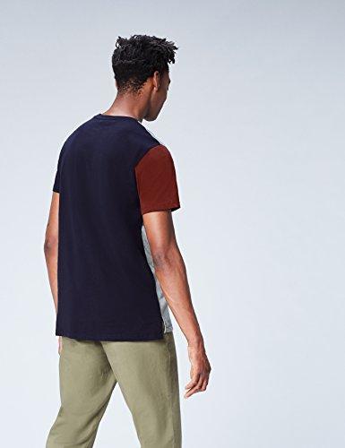 FIND Herren T-Shirt mit Colour-Blocking Blau (Navy)
