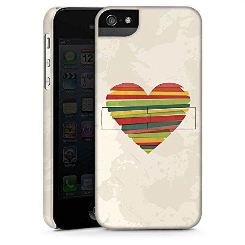 Apple iPhone X Silikon Hülle Case Schutzhülle Liebe Herz Bunte Streifen Premium Case StandUp