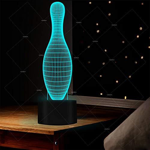 ive Lichter der Farbe 3D zur Schau Led Acryl dekorative Tischlampe Die Stromversorgung erfolgt über USB oder Akku,E ()