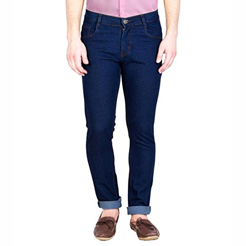 FunTree Men's Regular Non Stretchable Dark Blue Jeans  available at amazon for Rs.399
