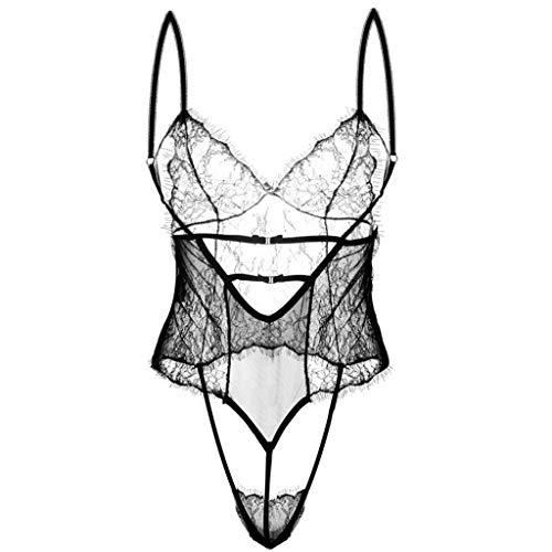 g Sexy Bikini Lingerie/Schwarz Transparent Lace Pyjamas Anzug Jumpsuit Rassige Unterwäsche Spice Suit Damen Versuchung Unterwäsche Set ()