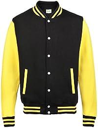 Awdis Varsity jacket - Jet Black/ Sun Yellow - L