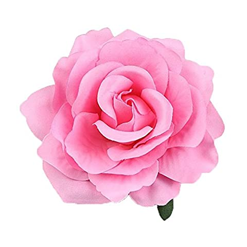 Merroyal Rose Flower Hair Clip Flamenco Dancer Pin up Flower
