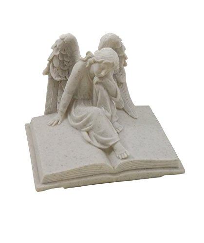 Grabschmuck Engel auf Buch Gedenkstein Grabstein Grabdeko Grab Deko Figur (Hexe Büste)
