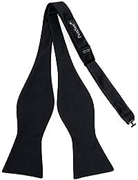 PenSee Silk Mens Self Bow Tie Solid Bow Ties-Various Colors