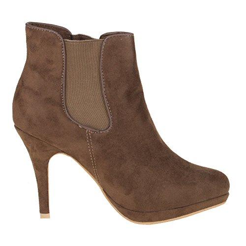 Damen Schuhe, 209, STIEFELETTEN Braun
