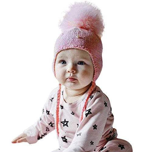 Kanpola Baby Boy Girl Hat Hair Ball Earbud (S, (Kostüm Girl Trucker)