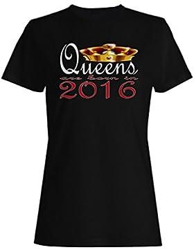 Nuevas reinas de diseño artístico nacen en 2016 camiseta de las mujeres b752f