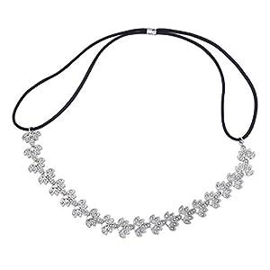 LUX Zubehör Silber Ton Braut Filigran besonderen Anlass Stretch Stirnband