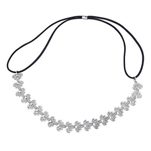 LUX Zubehör Silber Ton Braut Filigran besonderen Anlass Stretch Stirnband (Filigranes Stirnband)