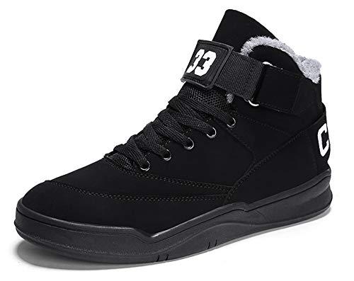 Imagen de muou zapatos hombre sneaker deportivos hombres zapatos casuales con cordones zapatillas deporte hombres de moda 39 eu, negro 3