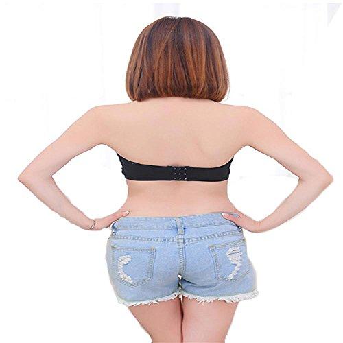 Lady BH topless Spitze BH keine Felgen BH Spitze trägerlose Unterwäsche Bluse , black