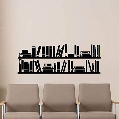 HNXDP Libri Scaffale da parete Adesivo in vinile Sala lettura Biblioteca Scuola Aula Adesivo Ufficio Casa Camera dei bambini Scuola materna Poster murale 57x20 cm