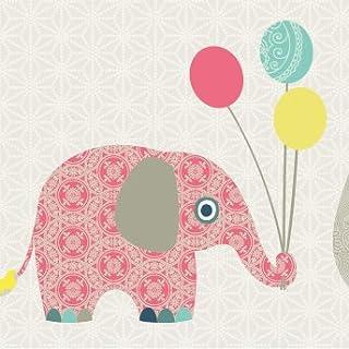 Anna Wand Bordüre Selbstklebend Family Elephant - Wandbordüre Kinderzimmer/Babyzimmer mit Elefanten in Versch. Farben - Wandtattoo Schlafzimmer Mädchen & Junge, Wanddeko Baby/Kinder