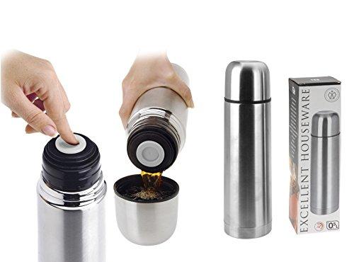 Thermos-Flasche Isolier-Flasche 0,5 L Edelstahl mit Druckverschluss - Milumi Edition