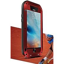 Funda impermeable para iPhone 6S + (iPhone 6s Plus), marca Love Mei recto [estilo] material de aluminio con pantalla de cristal Gorilla para * two-years garantía *