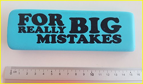 Für wirklich großen Fehler–blauen Stift, Radiergummi Gummi XL Giant Oversized