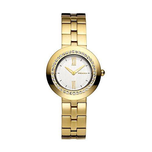 Orologio Rodania display cinturino Acciaio inossidabile oro e quadrante argento 24881-60