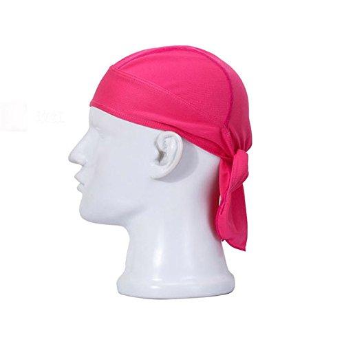 COOLOMG sudor de Capilaridad de rocío de trapo casquillo del cráneo de moda Cycling Cap ajustable Diseño Rose - Guanti In Pelle Di Cambio