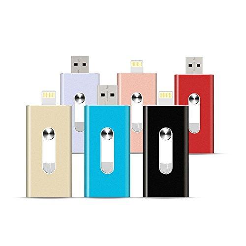 Preisvergleich Produktbild 16G Silber USB Speicherstick Mit Blitz Verbinder für iPad 4, iPod Touch 5, iPhone 5 5S 5C 6 6 Plus,Android-system
