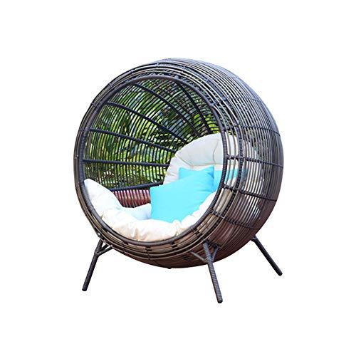WJQ Korbstuhl, Boden-Rattan-Liege, Nest-Design, zeitgemäßer, stilvoller Stil, gewebte Textur, dauerhafter Komfort, Stabiler Rahmen, vielseitige Verwendung