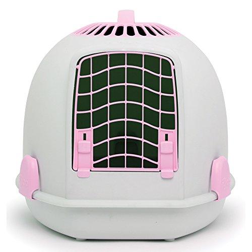 Igloo Pets 2-In-1 Katzentoilette und -transportbox (Einheitsgröße) (Persian Pink/Hellrosa)
