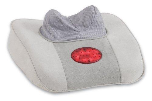 MACOM 839 Neck Pillow Enjoy & Relax Cuscino per Massaggio Shiatsu Cervicale, Grigio
