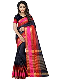SATYAM WEAVES WOMEN'S ETHNIC WEAR BANARASI PLAIN ART SILK SAREE.(NARMADA)