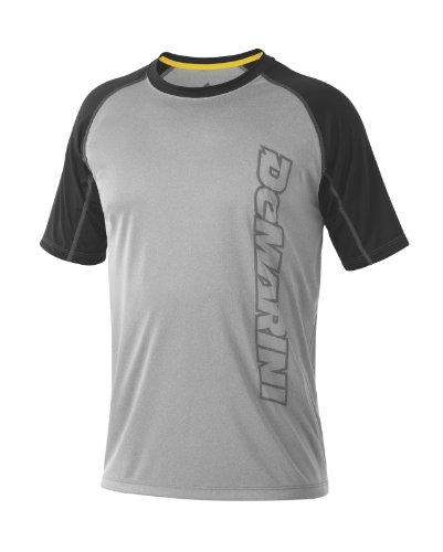 Demarini Herren Yard-Work Vertical Wordmark Training T-Shirt, Herren, grau/schwarz, Medium (Demarini Fastpitch Softball)