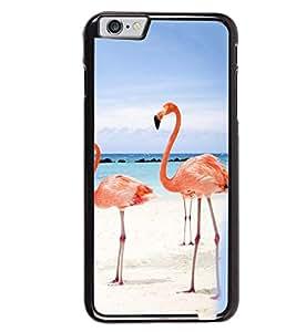Printvisa Pair Of Flamingos In Love Back Case Cover for Apple iPhone 6 Plus