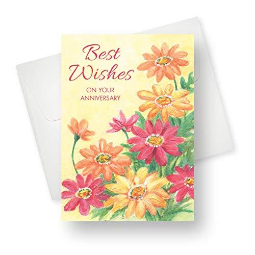 Glückwunschkarte zum Jahrestag von Gänseblümchen, Premium-Qualität mit einzigartigen Designs - für Männer, Frauen, Erwachsene, Schwule, Liebhaber und Ehepaare - 14 x 19 cm - 1 Karte (Halloween Verse Für Karten)