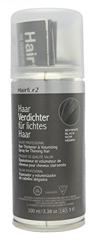 Hairfor2 Haarverdichter Spray, schwarz, 1er Pack, (1x 100 ml)