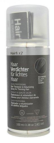 Hairfor2 Haarverdichter Spray, schwarz, 1er Pack, (1x 100 ()