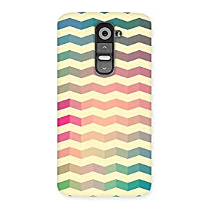 Gorgeous Seamless ZigZag Multicolor Back Case Cover for LG G2