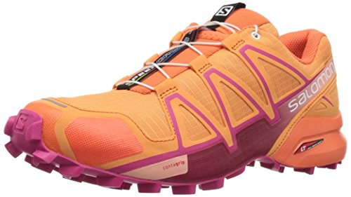 Salomon Speedcross 4 W, Chaussure De Course Donna Blue Jay / Noir 38 Orange
