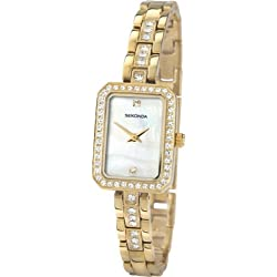 Sekonda Ladies Crystal Accented Watch With Mother Of Pearl Dial 4686