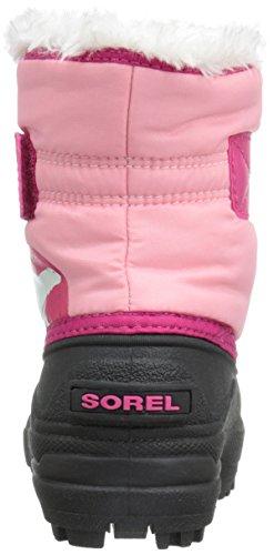 Sorel - Snow Commander, Stivale Da Neve infantile Rosso (Rouge (coral Pink, Bright Rose 644))