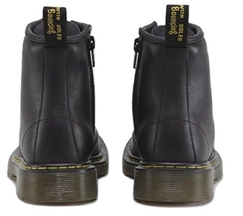 Dr Martens ChaussuresBrooklee Delaneypour enfant, dessus en cuir et lacets, fermeture éclair latérale et semelle coussin d'air Noir
